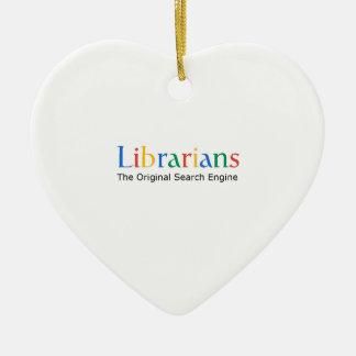Librarians The Original Search Engine Ceramic Heart Decoration