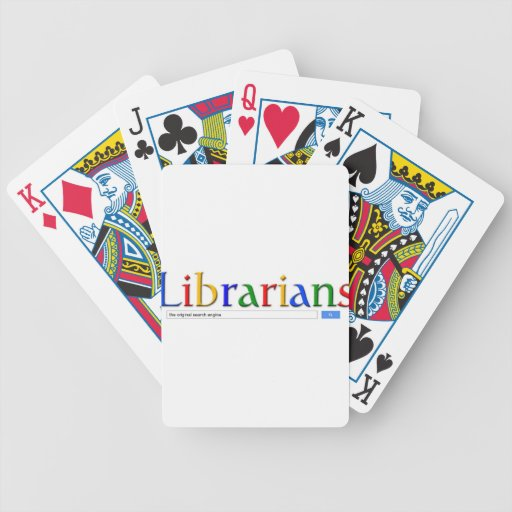 librarians the original search engine poker cards