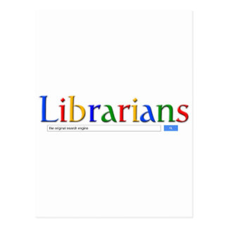 librarians the original search engine postcard