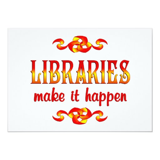 LIBRARIES 5X7 PAPER INVITATION CARD