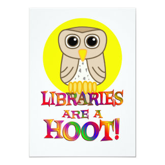 Libraries are a Hoot Personalized Invitations