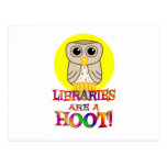 Libraries are a Hoot Postcard