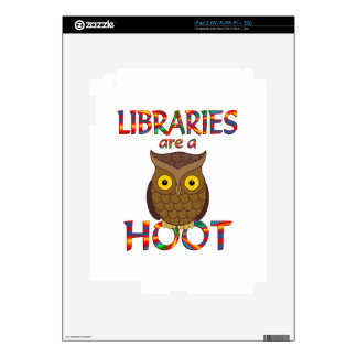 Libraries are a Hoot Decal For iPad 2