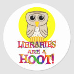 Libraries are a Hoot Stickers