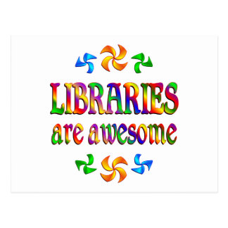 Libraries are Awesome Postcards