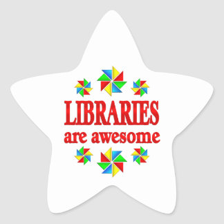 Libraries are Awesome Star Sticker