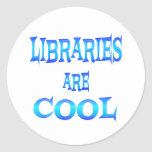 Libraries are Cool Classic Round Sticker