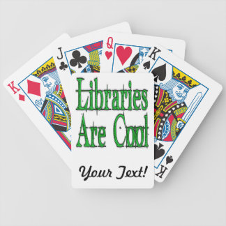 Libraries Are Cool Green Bicycle Poker Deck