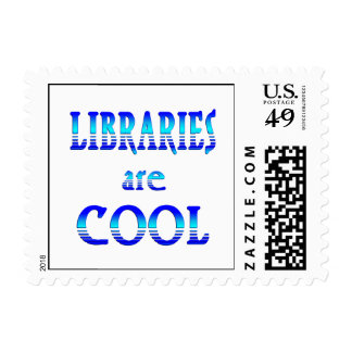 Libraries are Cool Postage Stamp