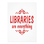 Libraries are Everything Personalized Invites