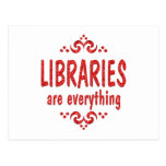 Libraries are Everything Post Cards
