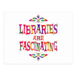 Libraries are Fascinating Postcard