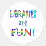 Libraries are Fun Classic Round Sticker