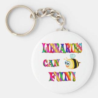 Libraries are Fun Basic Round Button Keychain
