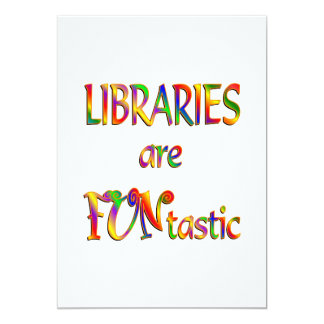 Libraries are FUNtastic Personalized Invites