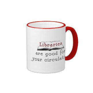 Libraries are good for your circulation - mug