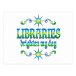 Libraries Brighten My Day Post Cards