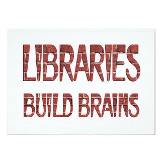 Libraries Build Brains Personalized Invitation