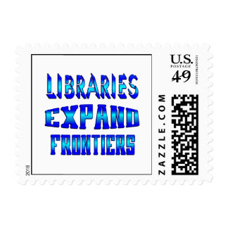 Libraries Expand Frontiers Postage Stamp