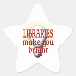Libraries Make You Bright Star Sticker