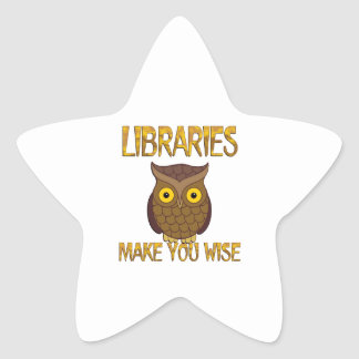 Libraries Make You Wise Star Sticker