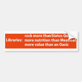 Libraries: more than rock bumper stickers