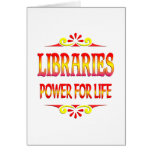 Libraries Power for Life Greeting Card