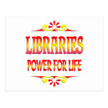 Libraries Power for Life Postcard