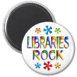LIBRARIES ROCK 2 INCH ROUND MAGNET