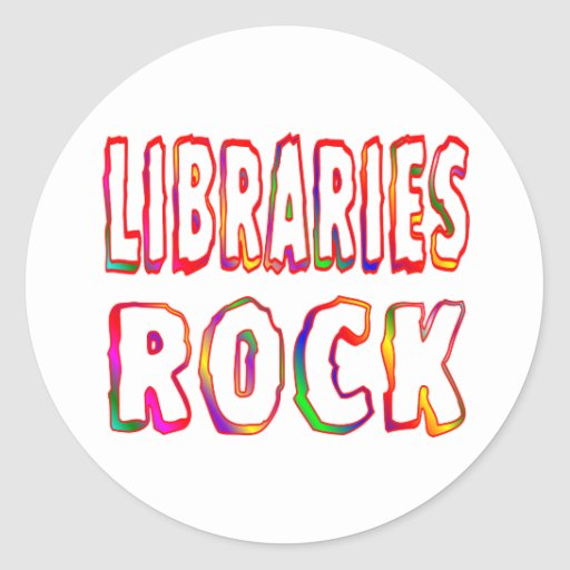 Libraries Rock Classic Round Sticker