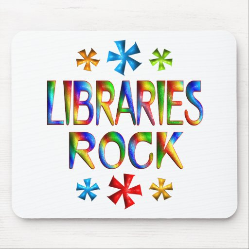 LIBRARIES ROCK MOUSE PAD