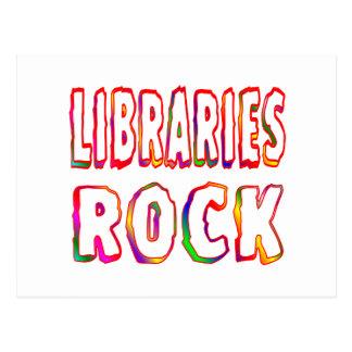 Libraries Rock Postcard