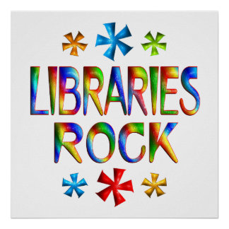 LIBRARIES ROCK PRINT
