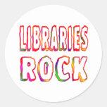 Libraries Rock Round Sticker