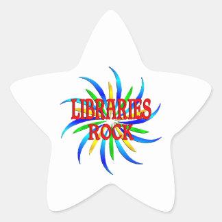 Libraries Rock Star Sticker