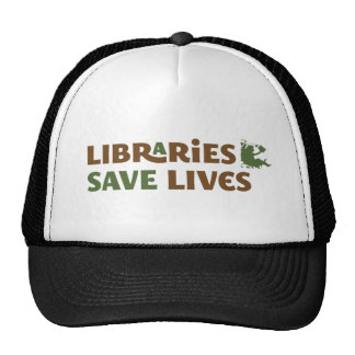Libraries save lives trucker hat