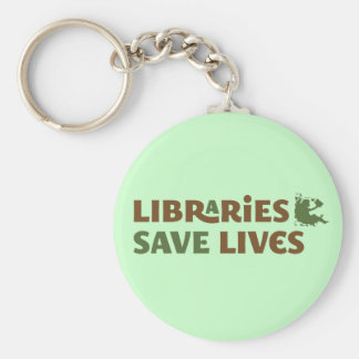Libraries save lives keychain