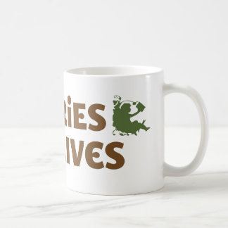 Libraries save lives classic white coffee mug