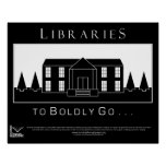 Libraries, to boldly go print
