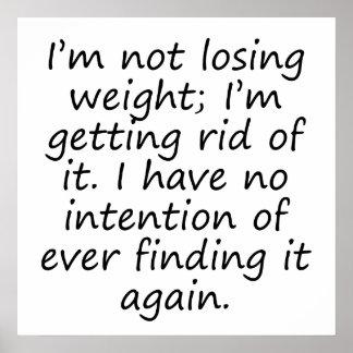 Librarse del peso póster