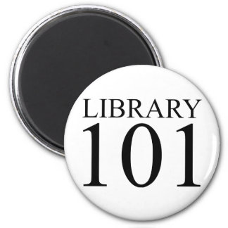 LIBRARY 101 2 INCH ROUND MAGNET