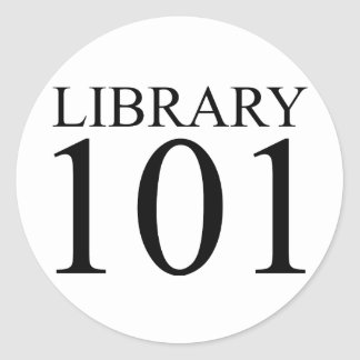 LIBRARY 101 CLASSIC ROUND STICKER