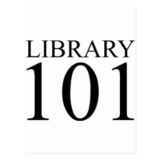 LIBRARY 101 POSTCARD