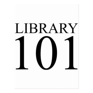 LIBRARY 101 POSTCARD