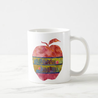 Library Apple Classic White Coffee Mug
