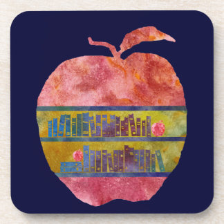 Library Apple Drink Coaster