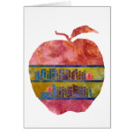 Library Apple Greeting Card