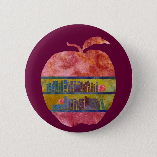 Library Apple Pinback Button
