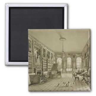 Library as Sitting Room, Cassiobury Park, c.1815, 2 Inch Square Magnet