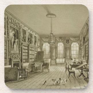 Library as Sitting Room, Cassiobury Park, c.1815, Beverage Coaster